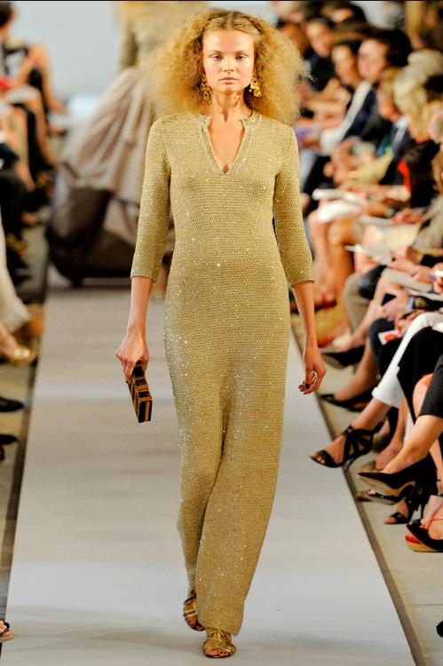 gold dress oscardelarenta ss 08